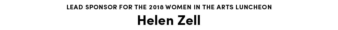 Lead Sponsor Helen Zell